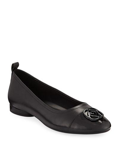 Penelope Cap-Toe Leather Comfort Flats