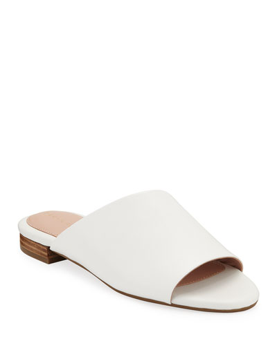 Vanessa Flat Leather Slide Sandals