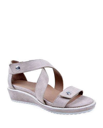 Tobi Suede Demi-Wedge Sandals