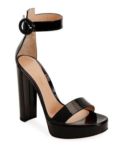 Patent Platform 100mm Sandals