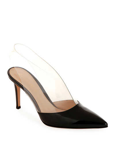 Clear-Strap Patent Illusion Pumps