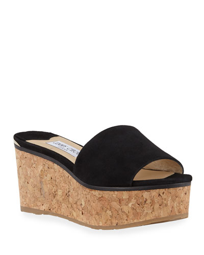 Deedee Suede Flatform Slide Sandals