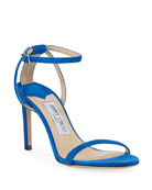 Jimmy Choo Minny Strappy Suede Sandals