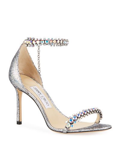 b3261f685fb4 Quick Look. Jimmy Choo · Shiloh Holographic Leather Sandals