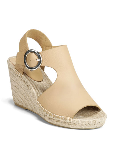 Nolan Leather Slingback Espadrilles