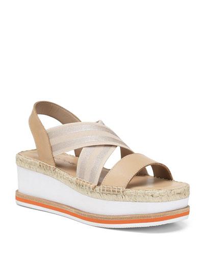 Audrey Comfort Metallic Wedge Sandals