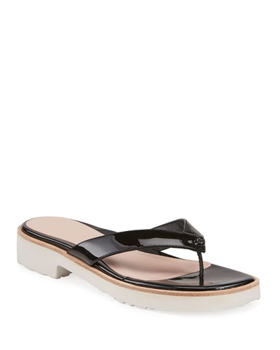 51f4bce31ae Quick Look. Taryn Rose Collection · Taziana Patent Thong Sandals. Available  in Black