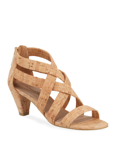 Vida Stretch Cork Sandals
