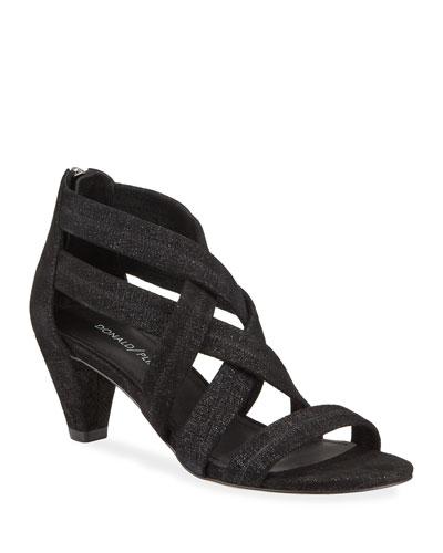 Vida Shimmer Stretch Sandals