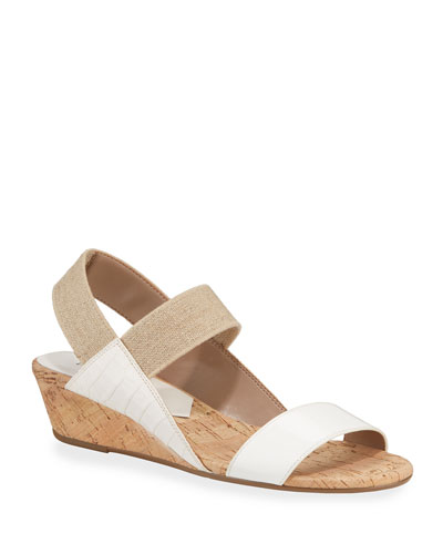 Elsie Patent Demi-Wedge Sandals