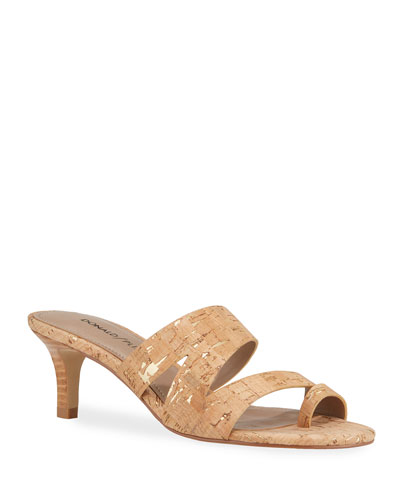 Klarisa Asymmetric Cork Slide Sandals