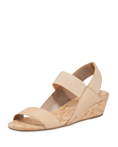 Elsie Slingback Demi-Wedge Sandals