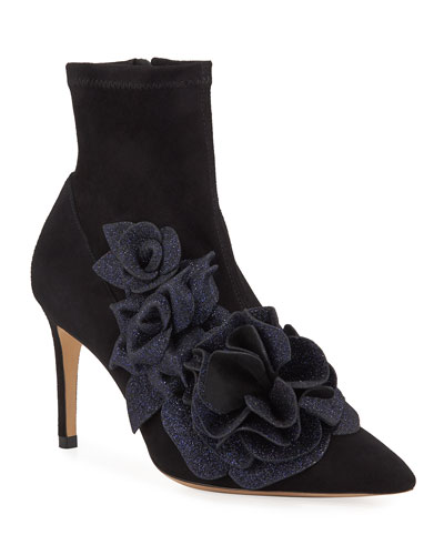 Jumbo Lilico Suede Ankle Booties
