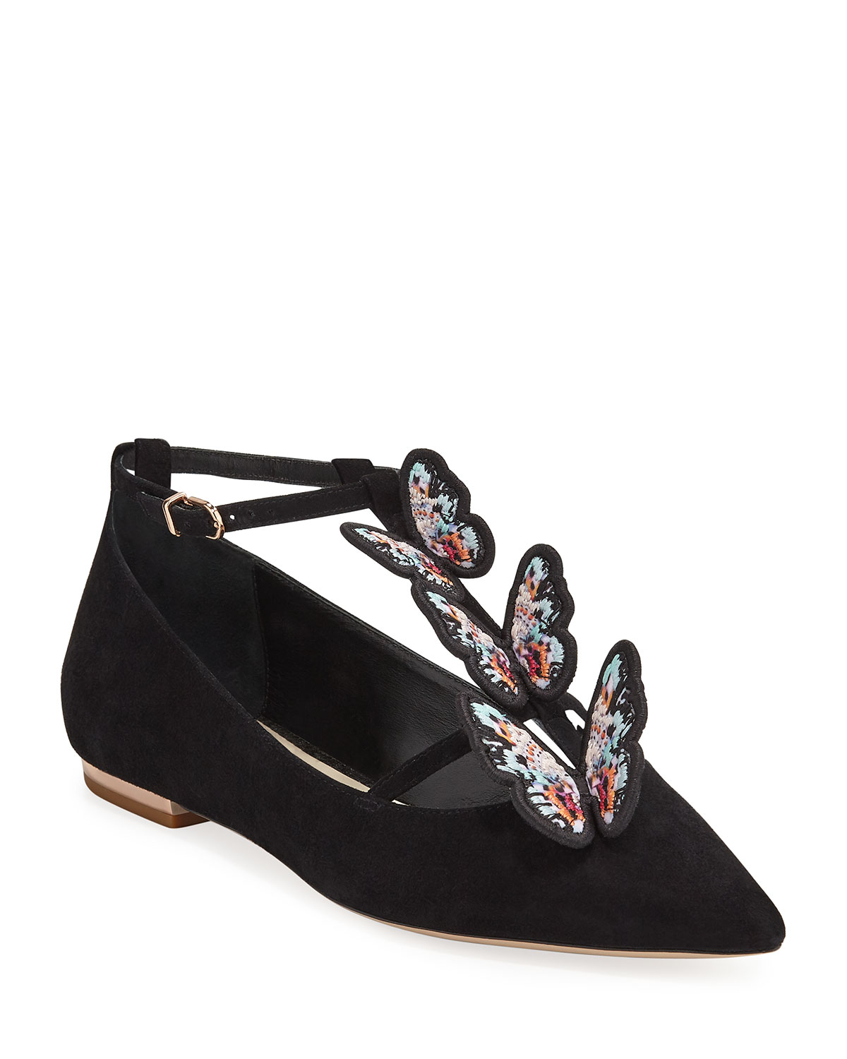 Riva Butterfly Suede Ballet Flats