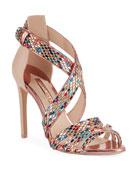Sophia Webster Danae Crystal Strappy Sandals
