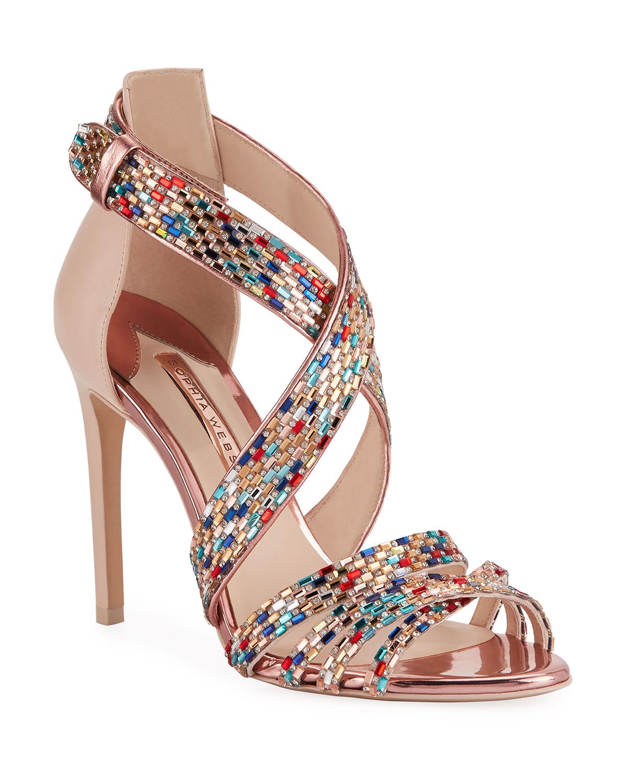 Sophia Webster Sandals DANAE CRYSTAL STRAPPY SANDALS