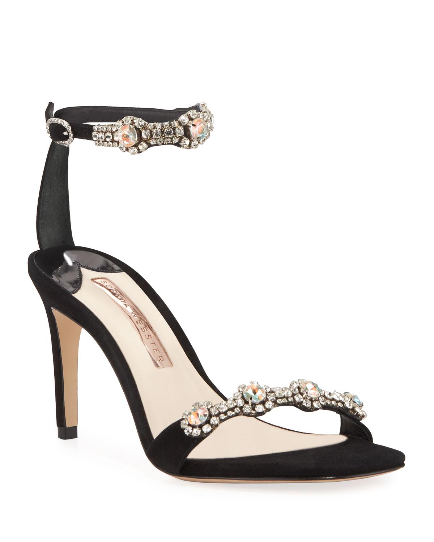 Aaliyah Embellished Ankle-Strap Sandals