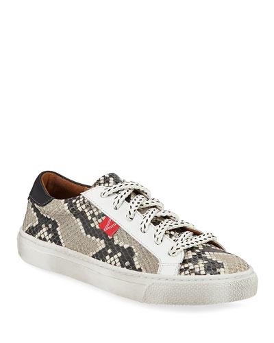 Sami Python-Print Low-Top Sneakers