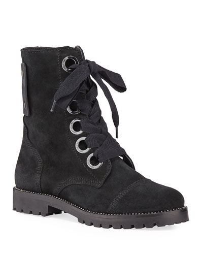 9a74313332f06 Quick Look. Zadig & Voltaire · Joe Crystal-Trimmed Suede Combat Boots