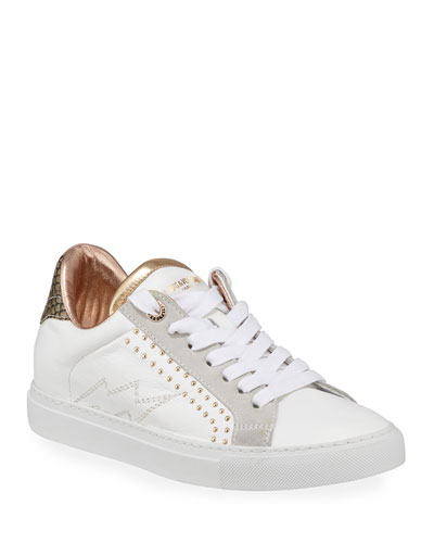 ZV1747 Low-Top Studded Leather Sneaker