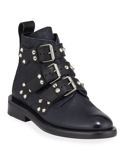 Laureen Spike Combat Boots