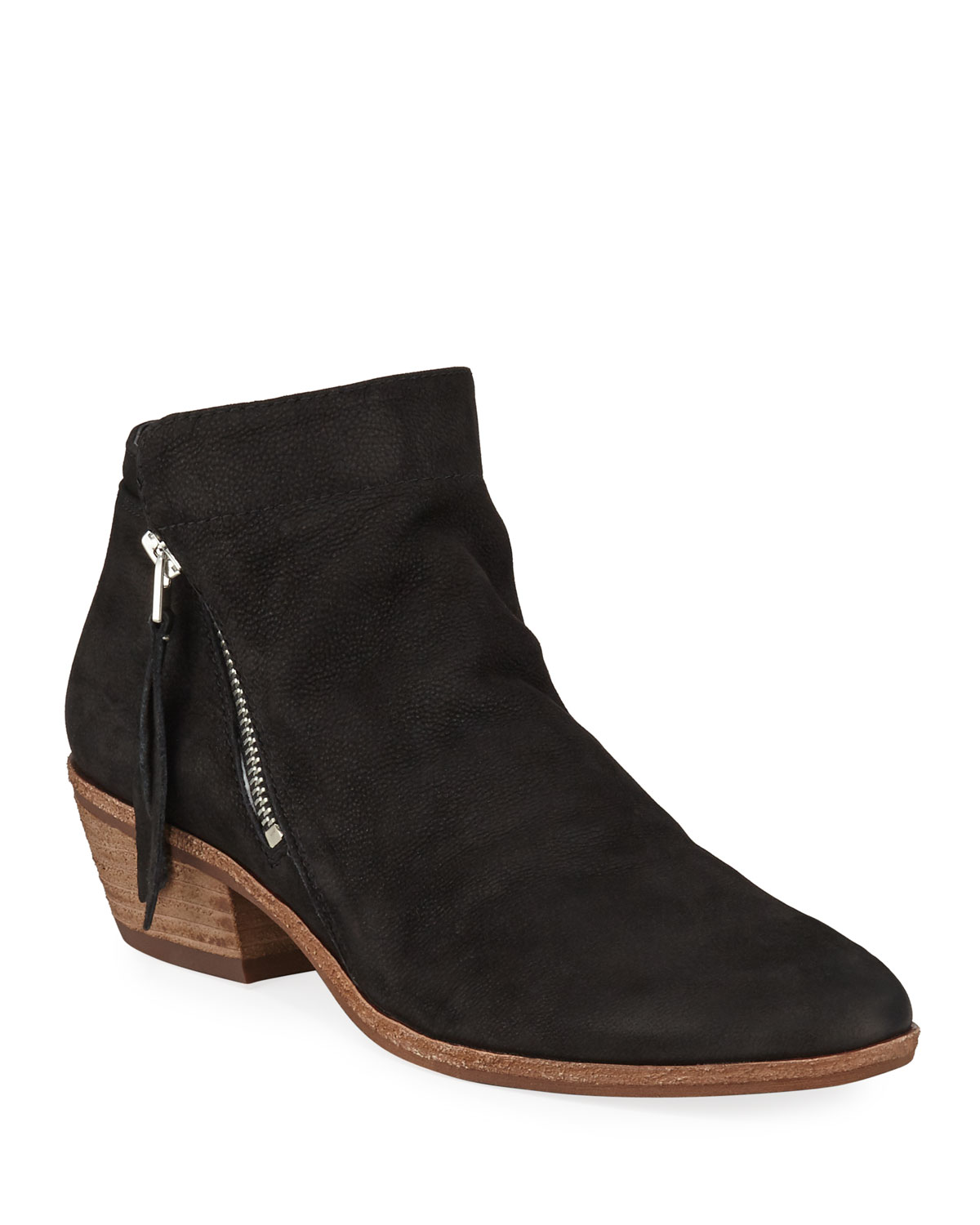 Packer Double-Zip Leather Ankle Booties