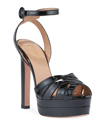 29acda8cd3b2 Quick Look. Aquazzura · Bellini Plateau Patent Platform Sandals
