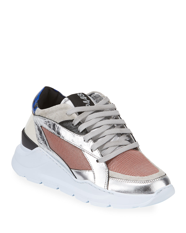Leia Metallic Wedge Dad Sneakers