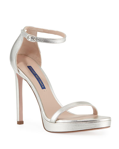 Nudistdisco Metallic Patent Sandals