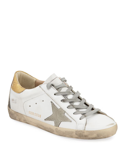 Superstar Leather Sneakers with Metallic Back