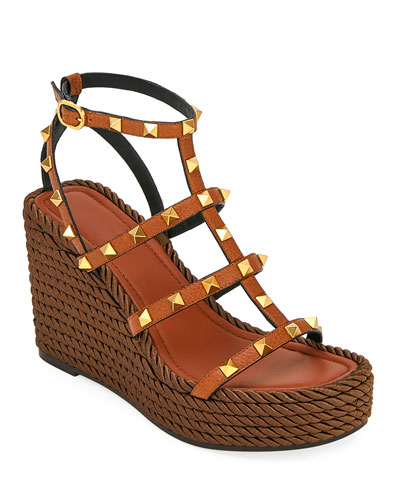 Torchon Rockstud Leather Espadrille Sandals