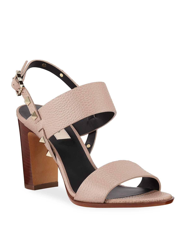 Rockstud Double-Strap Sandals