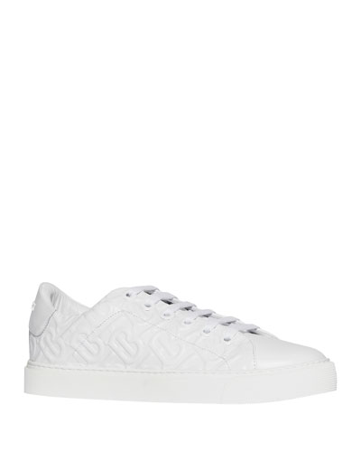 Albridge TB Embossed Leather Sneakers