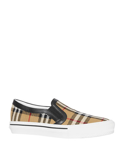 Delaware Plaid Slip-On Sneakers