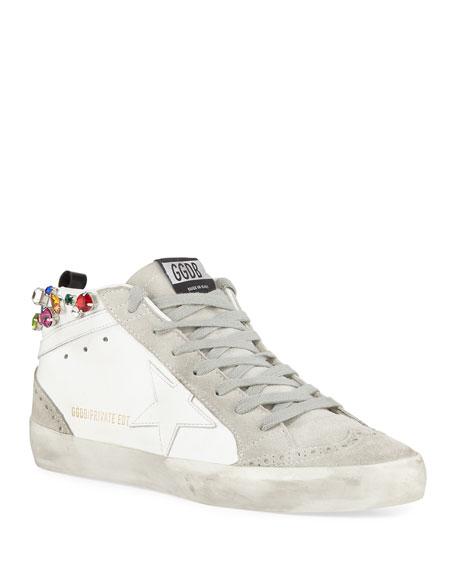 Golden Goose Midstar Crystal High-Top Sneakers