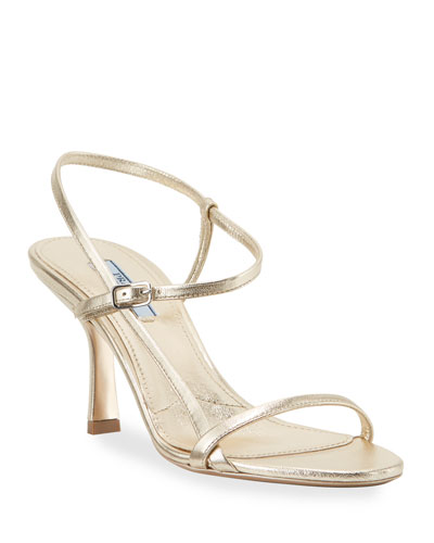 Metallic Strappy 75mm Sandals