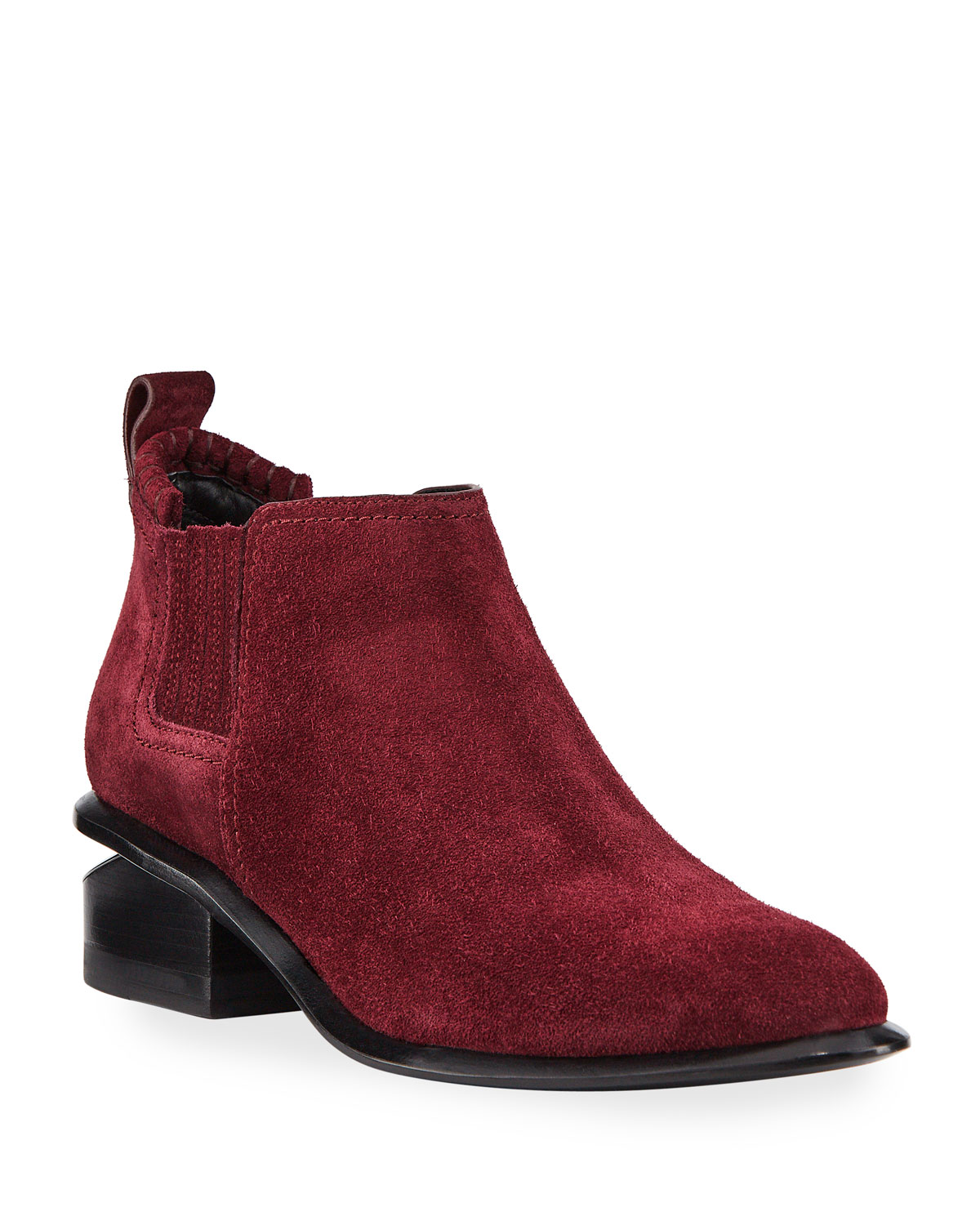 Kori Low-Heel Suede Booties