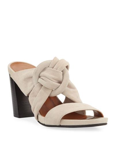 ea0777efead5 Quick Look. Aquatalia · Breanne Knotted Suede Block-Heel Sandals