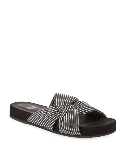 Pal Knotted Stripe Slide Sandals