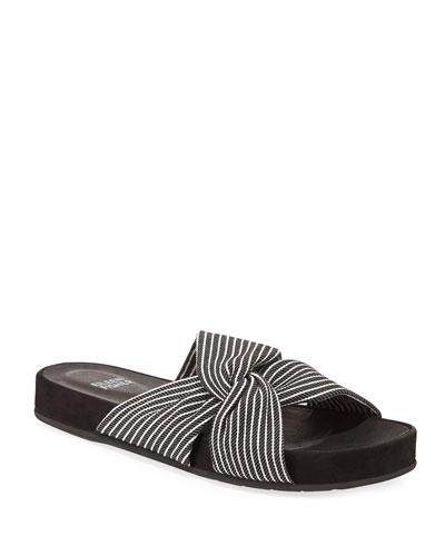 Pal Knotted Stripe Slide Sandals