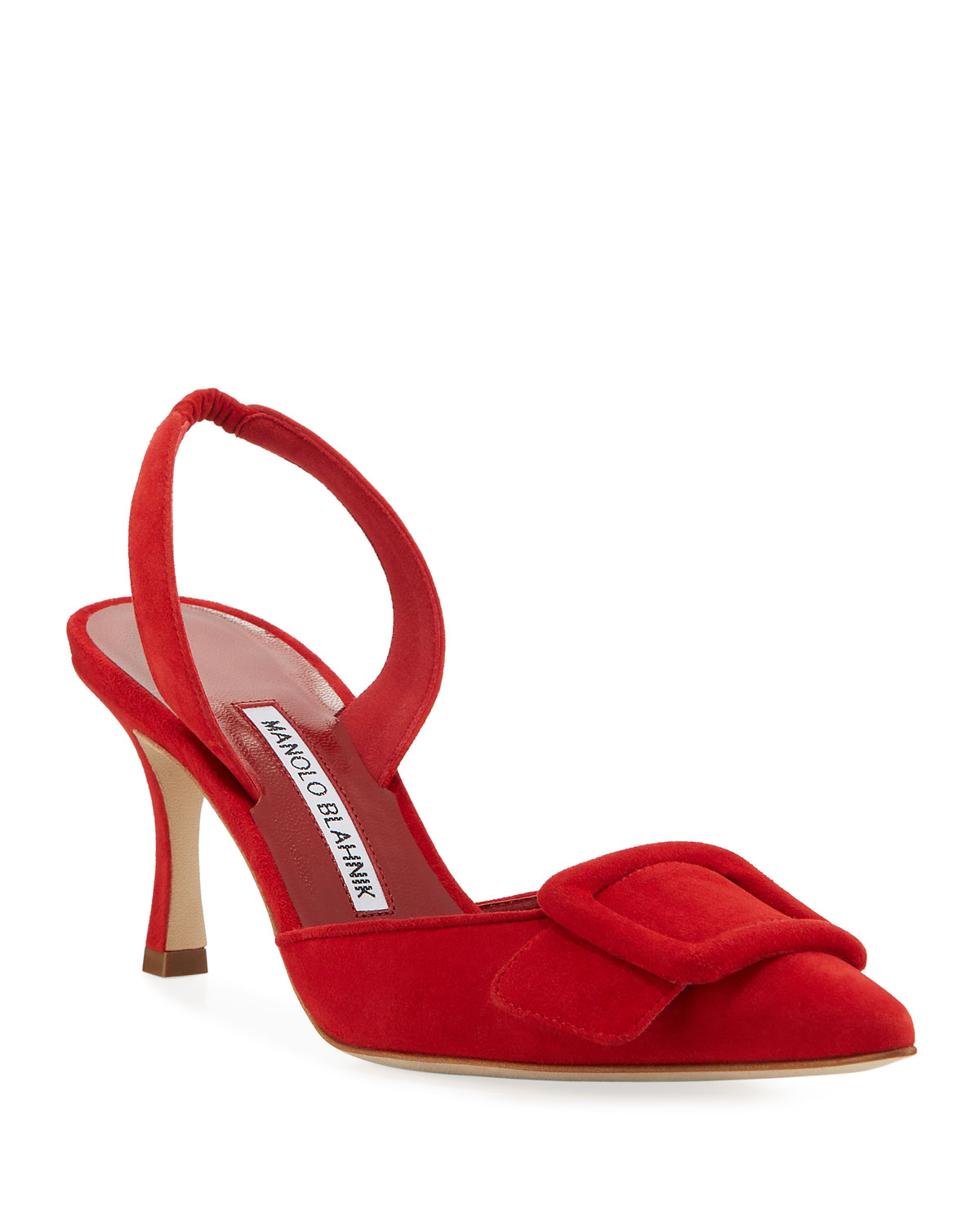 May Suede Slingback Buckle Pumps