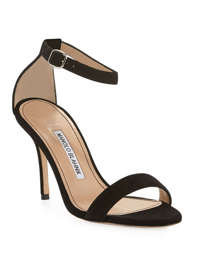 Chaos Suede Ankle-Strap Sandals