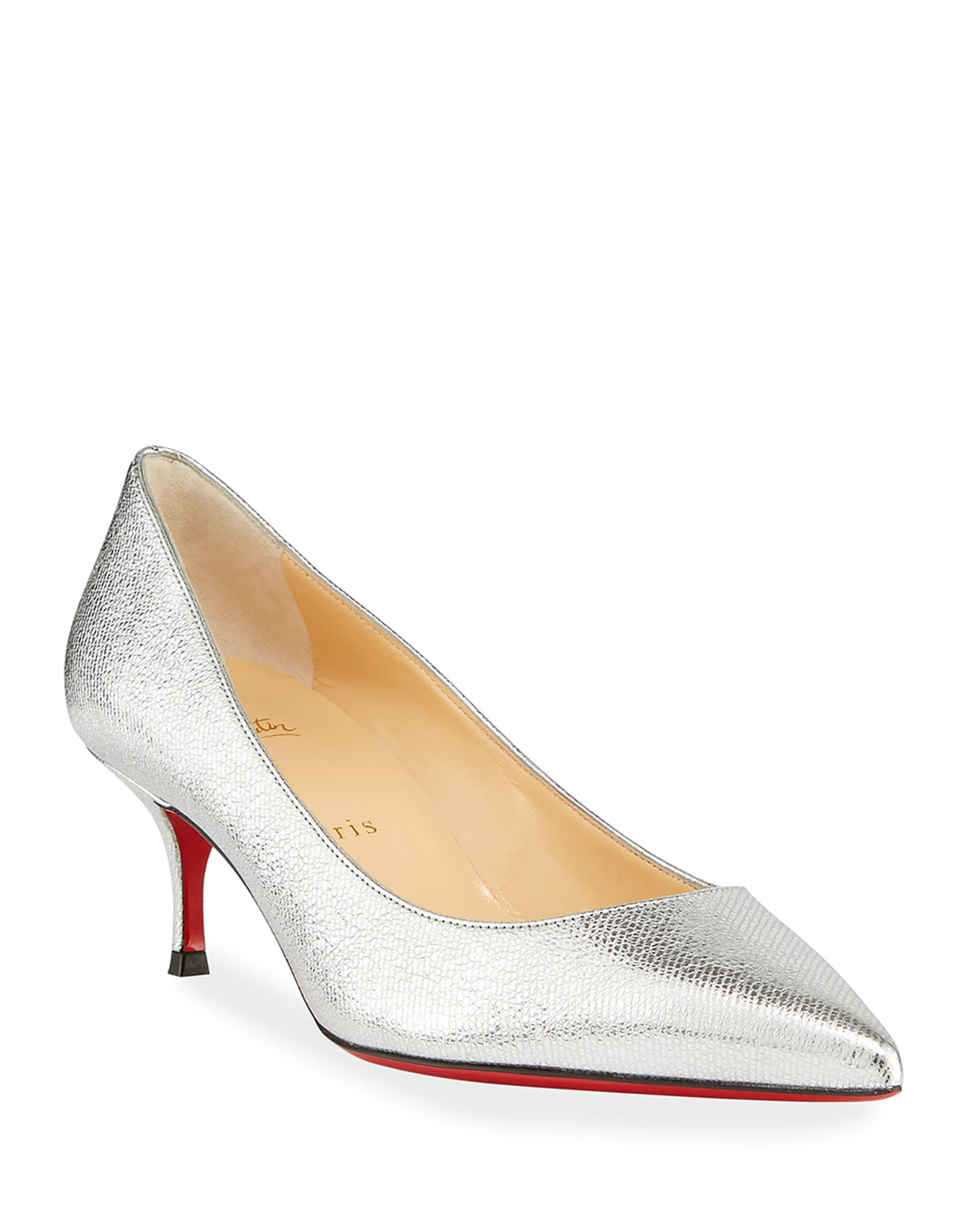 Kate Shiny Leather Red Sole Pumps