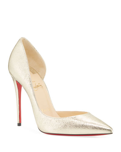 Iriza Metallic Red Sole Pumps