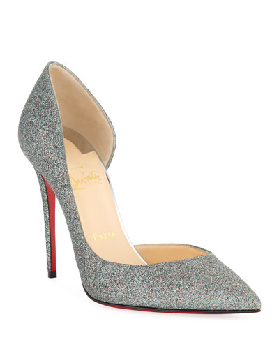 Iriza 100mm Glitter Red Sole Pumps