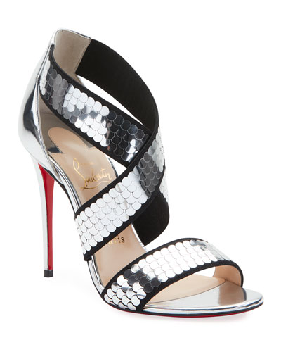 Xili Disco Ball Red Sole Sandals