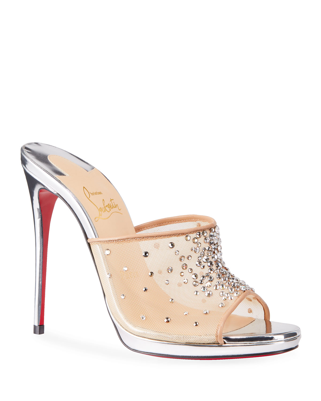 Violas Mesh Red Sole Mule Sandals