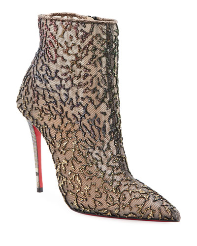Nancy Mesh Red Sole Booties