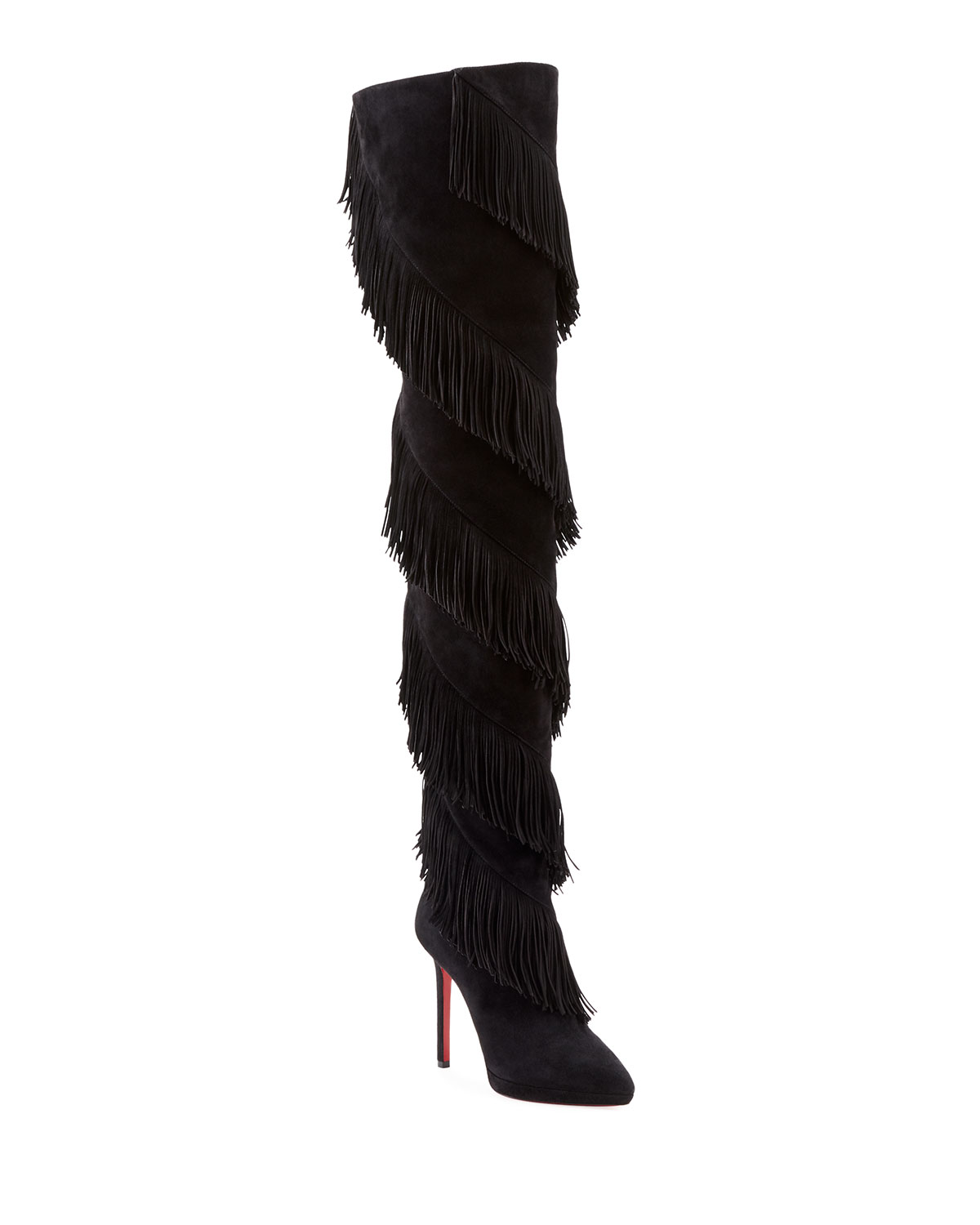 Bolcheva Fringe Red Sole Boots