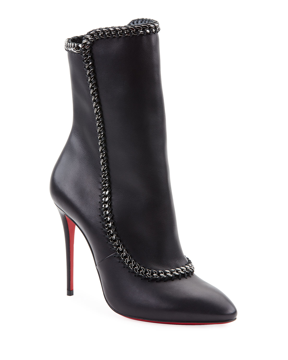Clemence Red Sole Booties